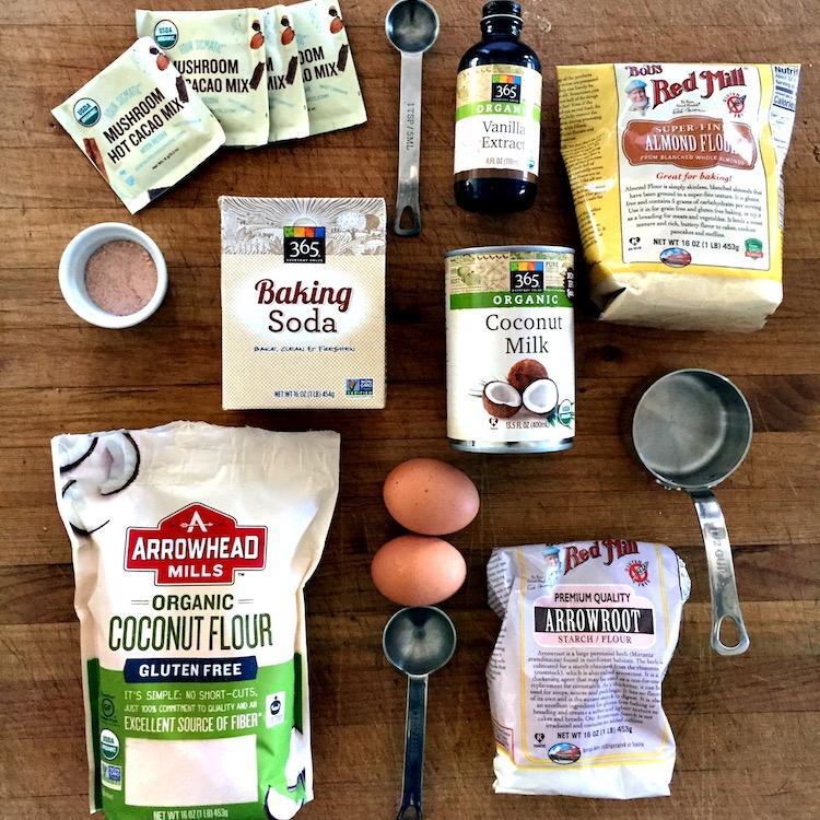 Reishi pancake ingredients image